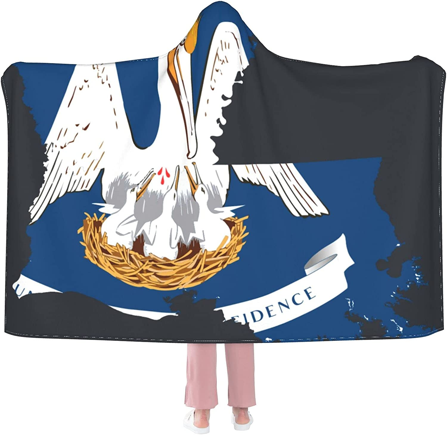 Flag_Map_of_Louisiana_Accurate Hooded low-pricing 2021 Wearable Boys for Blanket