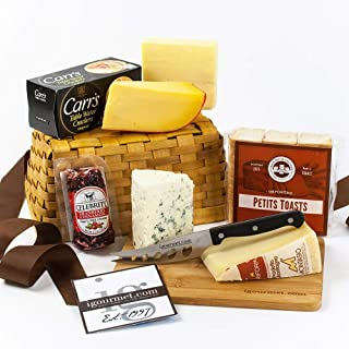 igourmet Say Cheese! Gift Basket - Box (2.48 pound) - Includes an assortmet of gourmet cheeses, crackers,as well as a set ...