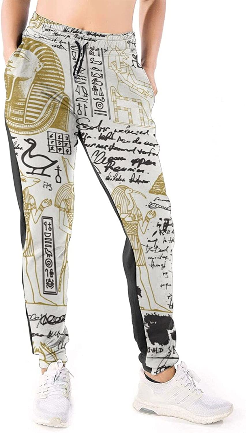 LONEA Women Gifts Joggers Pants Ancient Athle Egypt Max 80% OFF Culture Black Gold