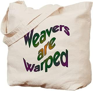 CafePress Weavers Are Warped Natural Canvas Tote Bag, Reusable Shopping Bag