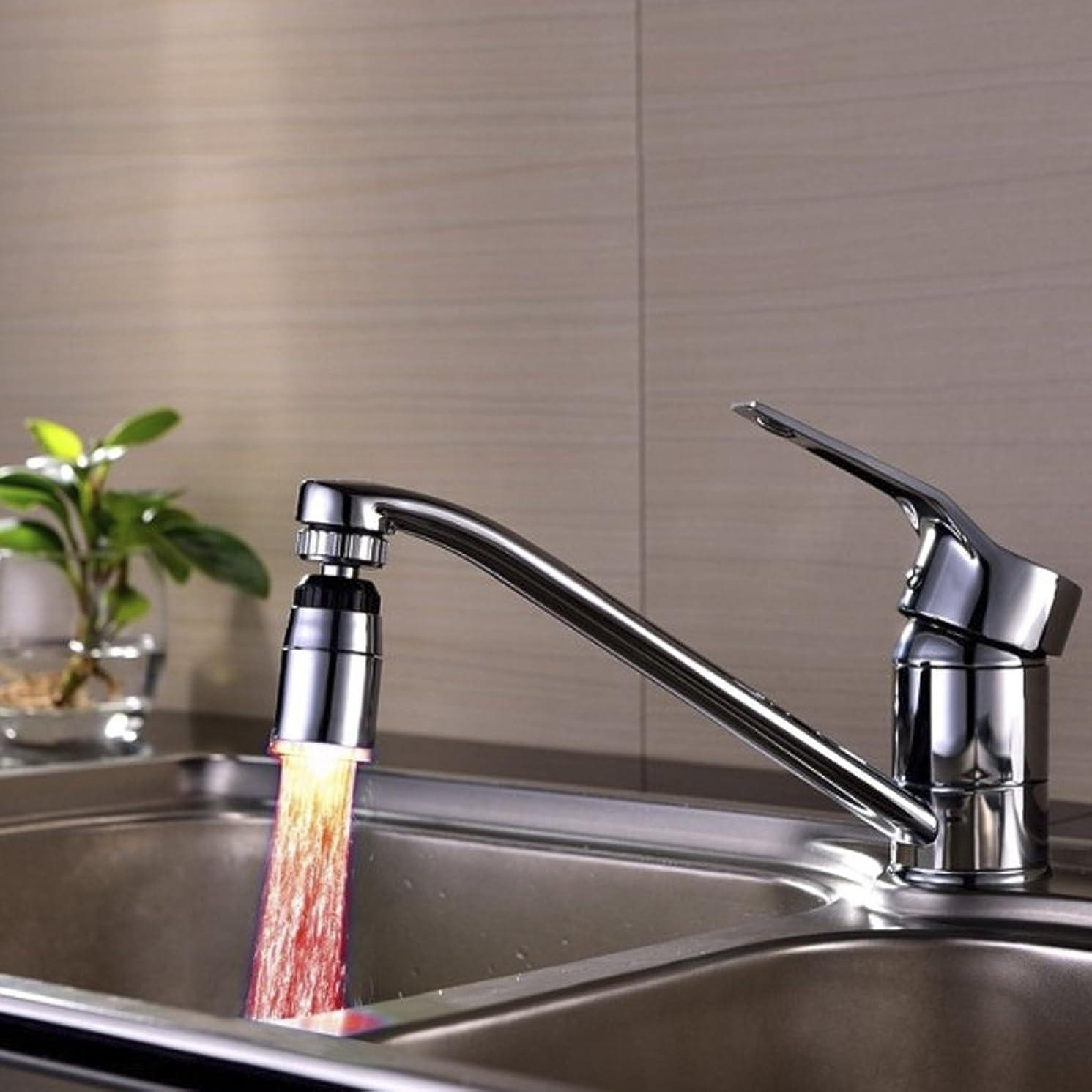 山テクニカル破滅温度センサー自動変更水蛇口ストリームタップ浴室3色LED