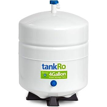 tankRo - RO132-TNK tankRO– RO Water Filtration System Expansion Tank – 4 Gallon Capacity Water Tank - NSF Certified Reverse Osmosis Tank – Compact Reverse Osmosis Water Storage Pressure Tank with Free Tank Ball Valve