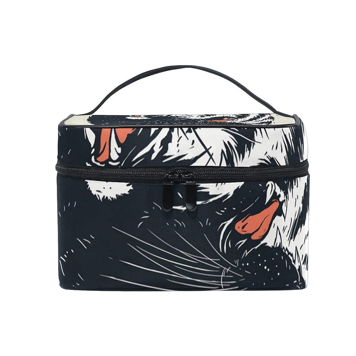 海峡チロ効果的にメイクボックス ネオン柄 化粧ポーチ 化粧品 化粧道具 小物入れ メイクブラシバッグ 大容量 旅行用 収納ケース