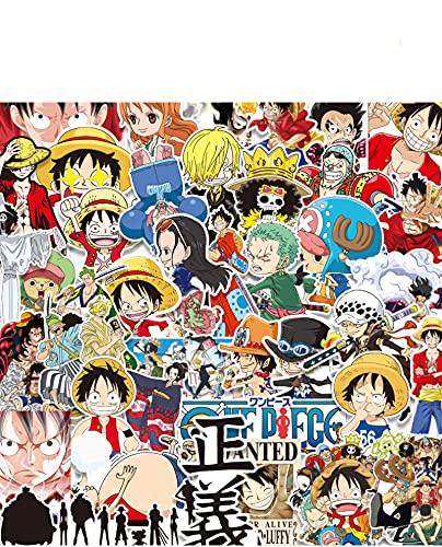 XIAMU Una Pieza Luffy Sombrero de Paja misión Maleta Pegatina para Maleta Anime Dibujos Animados Personalidad monopatín Motocicleta Pegatina 45 Hojas