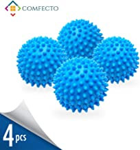 Set of 4 Reusable Dryer Balls to Replace Liquid Fabric Softener and Dryer Sheet Reduce Drying Time, Alternative Wash Ball for 1000 Washing with Anti-Static PVC