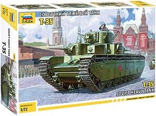 Zvezda 5061 500785061-1:72 T-35 Soviet Heavy Tank WWII, Model