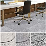Office Chair Mat for Carpeted Floors | Desk Chair Mat for Carpet | Clear PVC Mat in Different Thicknesses and Sizes for Every Pile Type | Low-Pile 30'x48' with Lip