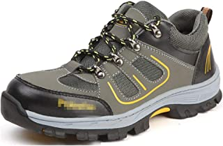 SHANLEE Labor Insurance Shoes Men's Breathable Work Shoes Non-Slip Hiking Shoes
