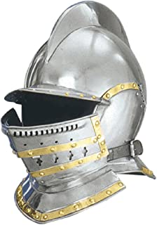 ANTIQUECOLLECTION Burgonet Helmet Silver