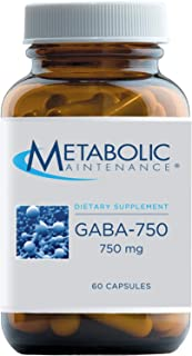 Metabolic Maintenance GABA-750 - Pure 750mg No Fillers, Gamma Aminobutyric Acid Supplement - Support for Mood, Calm, Restf...