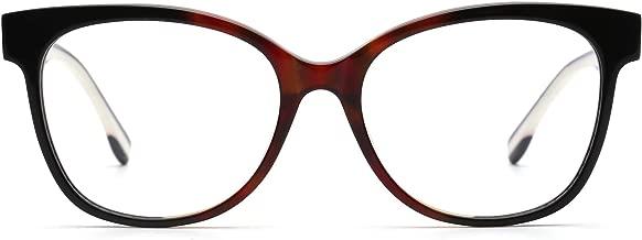 JIM HALO Spring Hinge Non-Prescription Glasses Oversized Eyeglasses Women Men