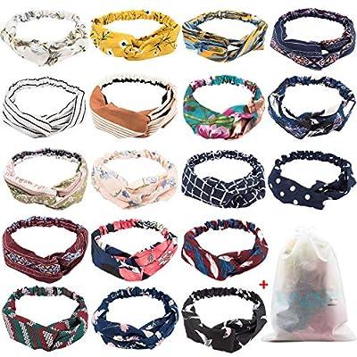 18 Pcs Boho Headbands