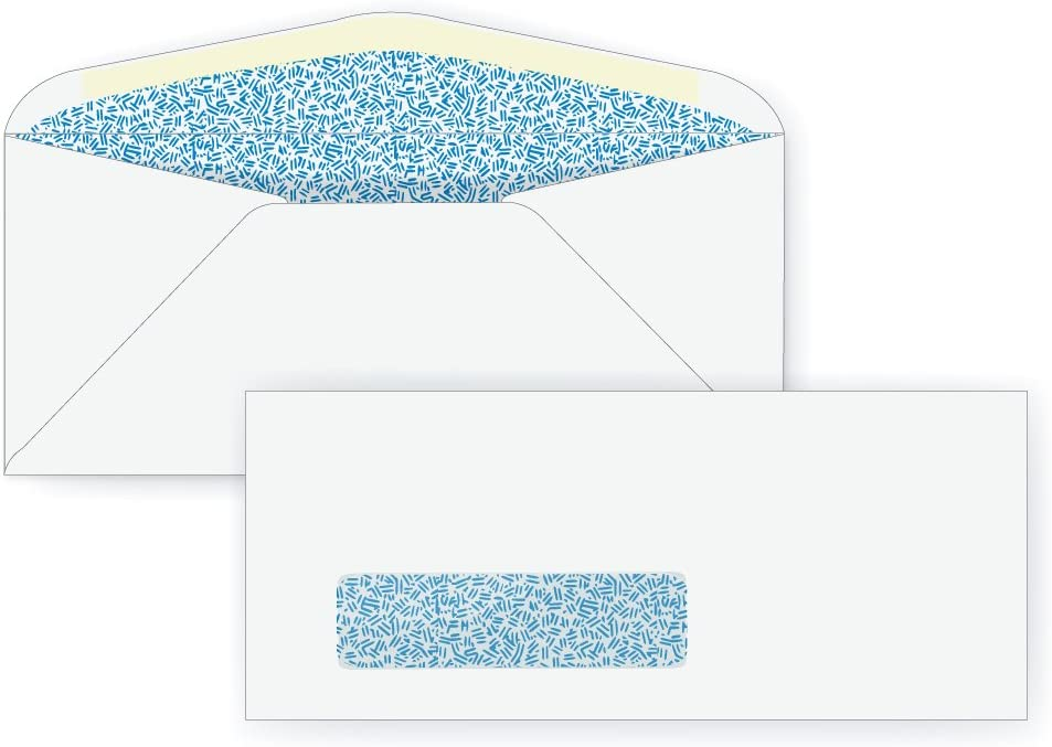 #9 Window Envelope - Blue Inside Branded goods Tint 24# 8 3 7 x White Max 48% OFF