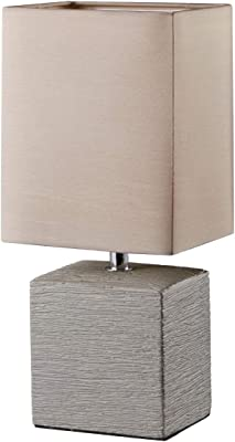 Reality Leuchten Reality R50131026 Ping Lampada Tavolo, 1xE14, 40 W, Quadrato, Marrone, 13x11x29 cm E14