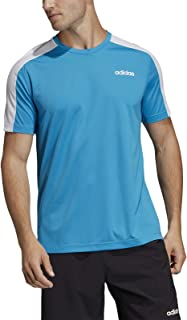 Adidas Men's Design 2 Move T-Shirt, White (Shock Cyan/white), Medium DU6995