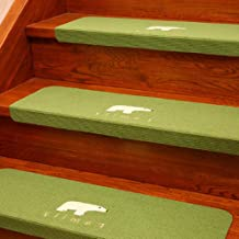 Non Slip Carpet Stair Treads Rug mats,Carpet Stair Treads Non Slip Luminous Floor Covers Step Mats Rotary Staircase Carpet...