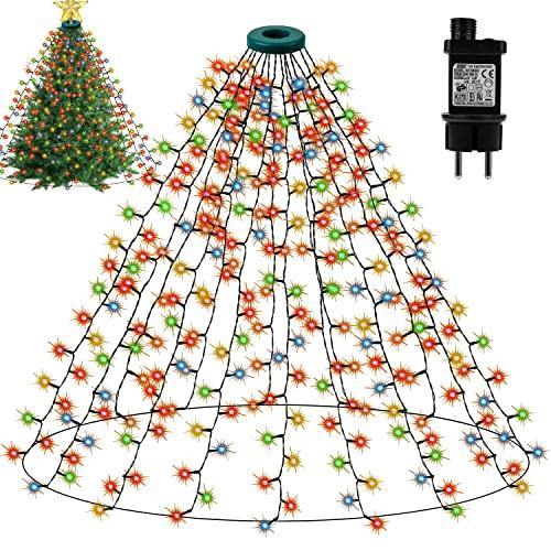 Decorazioni Natalizie - Luci di Natale da Esterno con 16 Addobbi 400LED, Luci di Natale per Albero di Natale
