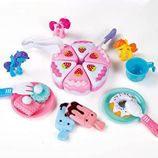 My Little Pony Unicorn YUMMY cookies Set ,Cutting Cake Toys for Little Girl ,21 PCS Play Dessert Cookies and Ice Cream Toy...