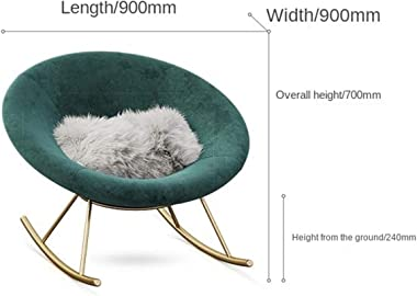 Kyydod-Rocking Chair Lazy Sofa Chair Leisure Living Room Balcony Girl Rocking Chair Nordic Style 90x90x70cm