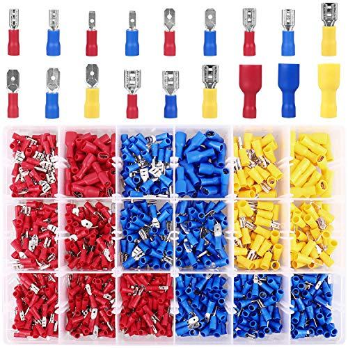 Kabelschuhe, 900 tlg. Flachstecker und Flachsteckhülsen Quetschverbinder Sortiment