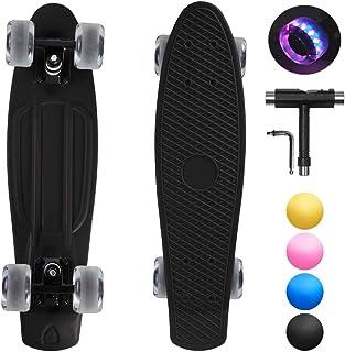 shownicer Skateboard Completo Mini Cruiser Skateboard Penny Board per Bambino Adulto Ragazza Ragazzo Principianti, 22''/57...