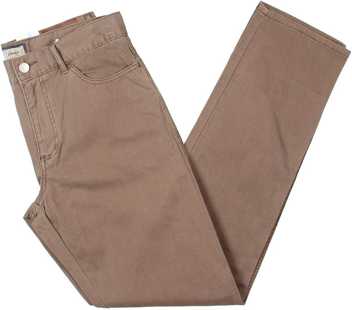 johnnie-O Mens West Coast Prep Casual Chino Pants, Brown, 32W x 34L