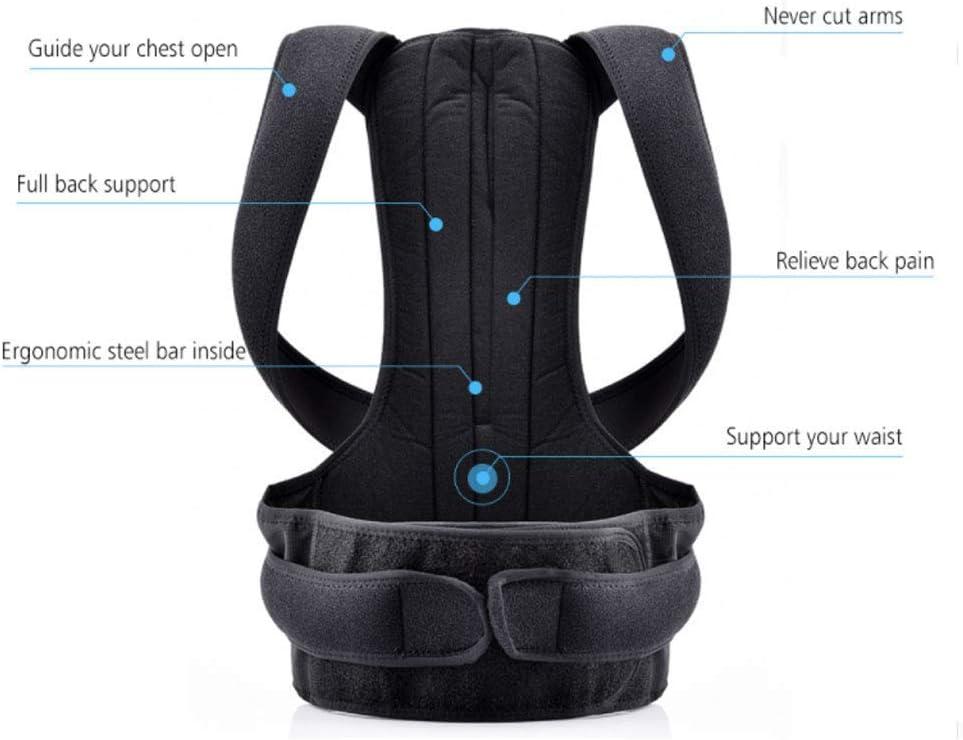 YUMUO Bretelles arrière pour Postures pour la Correction de la scoliose Adulte Masculine et féminine pour Les Adultes et Les Enfants (Taille: XL (40-52 Pouces)) 1