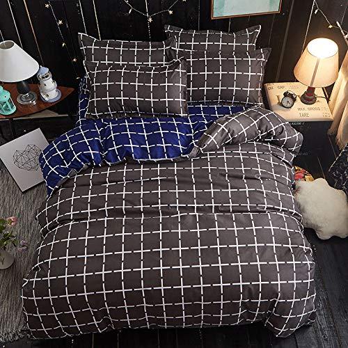 Einzelbettdecke aus gebürsteter Aloe-Baumwolle, 3er-Set