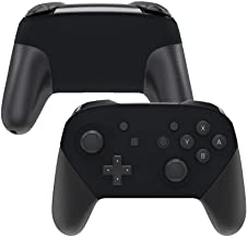 eXtremeRate Placa frontal e placa traseira preta para controle Nintendo Switch Pro, capa de substituição de toque macio pa...