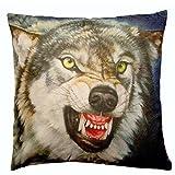 N.N. Deko-Kissen - Roaring Wolf