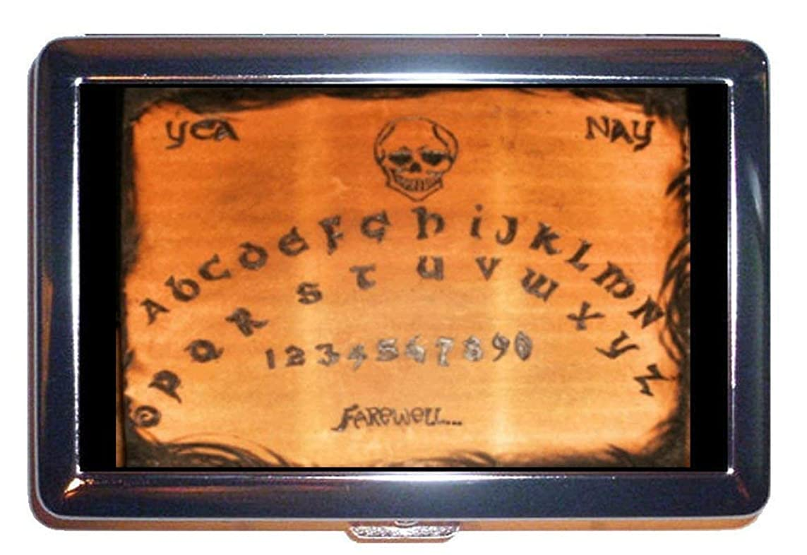 母音解くセクションOuija Board Occult SkullステンレススチールIDまたはCigarettesケース( Kingサイズまたは100?mm )