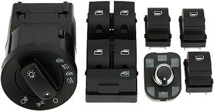 KKmoon YCN4307309758343MQ Kit 5 Interruptor Control Faro Eléctrica Ventana Principal y Perilla Espejo Retrovisor Ajuste