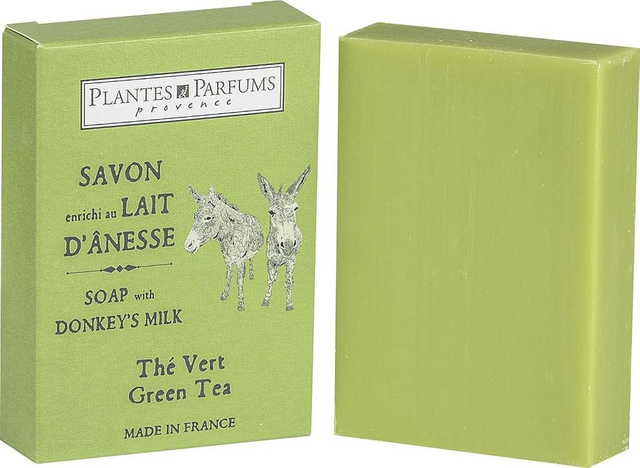 冷酷な寄生虫言い直すPlantes&Parfums [プランツ&パルファム] ロバミルクソープ100g グリーンティ