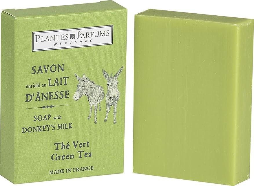 親指重力始まりPlantes&Parfums [プランツ&パルファム] ロバミルクソープ100g グリーンティ