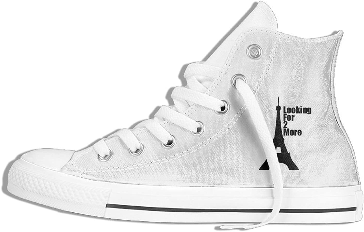 Classic Fashion Eiffle Tower Shirt Canvas High Top Sneakers For Youth.