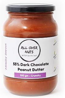 All Over Nuts 55% Dark Chocolate Peanut Butter, 500 gm Crunchy (Gluten Free, Vegan)