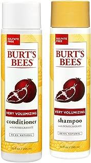 Burt's Bees Very Volumizing Pomegranate Shampoo + Conditioner Set - Sulfrate Free 10oz Bottle