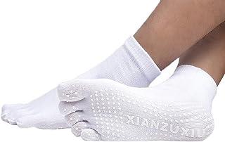 (ビグッド)Bigood シンプル ヨガ ソックス 滑り止め付き 5本指 ソックス レディース メンズ ショートソックス カジュアル スポーツ 靴下
