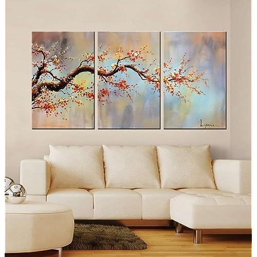 Hand Painted Tree Wall Art Amazon Com