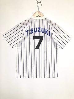 横浜ベイスターズ/BayStars/鈴木尚典/#7/Tシャツ/ピンストライプ/SSサイズ/...