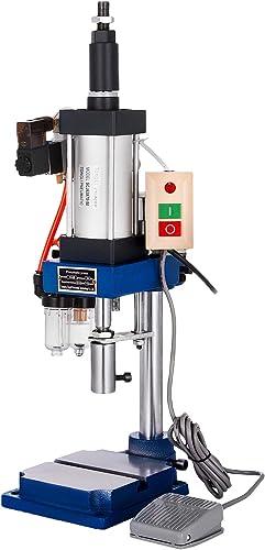 high quality Mophorn Pneumatic Punch Press Machine 440LB/200KG Pressure, Desktop Punching Press Machine 110V online AC,Cylinder Stroke Pneumatic Press 0.4-0.7 online sale Mpa Operation Pressure sale