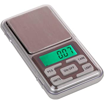 Glun Digital Pocket Scale 0.01G To 200G For Kitchen Jewellery Weighing - Black