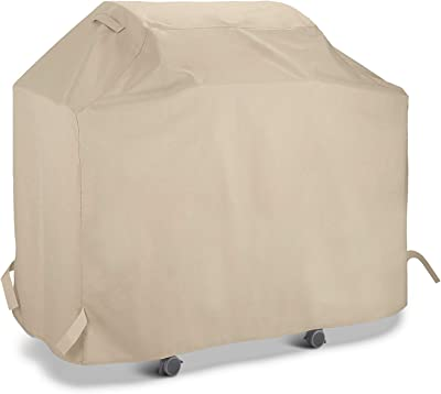 Sunpatio Barbecue Grill Cover 60 Inch Waterproof Heavy Duty Bbq Cover Fits Grills Of Weber Char Broil Nexgrill Brinkmann And More 60 X 23 X 42 Beige Garden Outdoor