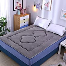 Japanese Flannel Mattress Pad,Portable Futon Mattress,Anti-Slip Foldable Roll Up Mattress Mat for Living Room Dormitory,Ke...