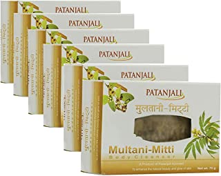 Patanjali Vadmans Multani Mitti Bathing Soap for Healthy and Fair Skin (Pack of 6)