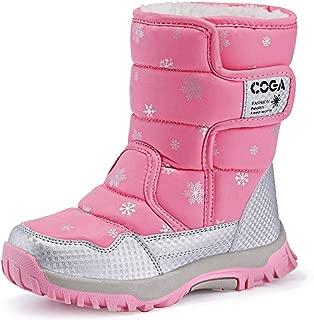 K&T Kids Boots Girls Boys Winter Snow Boots Outdoor Waterproof Non-Slip Sneakers(Toddler/Little Kid/Big Kid)