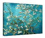 Wieco Art - Almond Blossom Modern Framed Floral Giclee