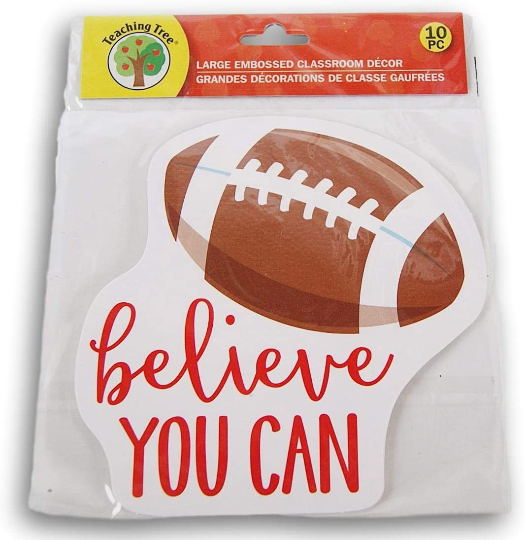 All items free shipping Classroom Decor Embossed Paper Cut-Outs - You ''Believe Outstanding Can'' Fo