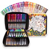 Gel Pens - 36 Metallic & Glitter Pens + Carry Bag by Colorya