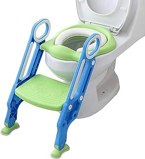 Opret 補助便座 子供 トイレトレーニング おまる トイレ 補助 取外し可能 折りたたみ式 踏み台 ステップ ブルー